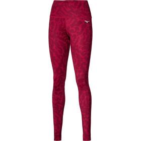 Mizuno Printed Pantaloni Donna, rosso